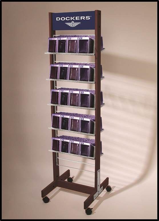 Dockers Wallet Display Rolling Rack Display For Retail Custom