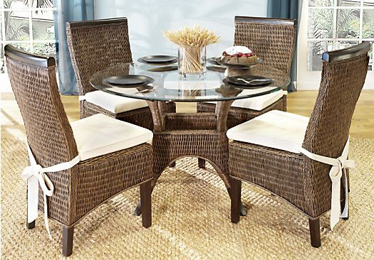Picture Of Abaco Rattan 5pc Round Dining Room From Dining