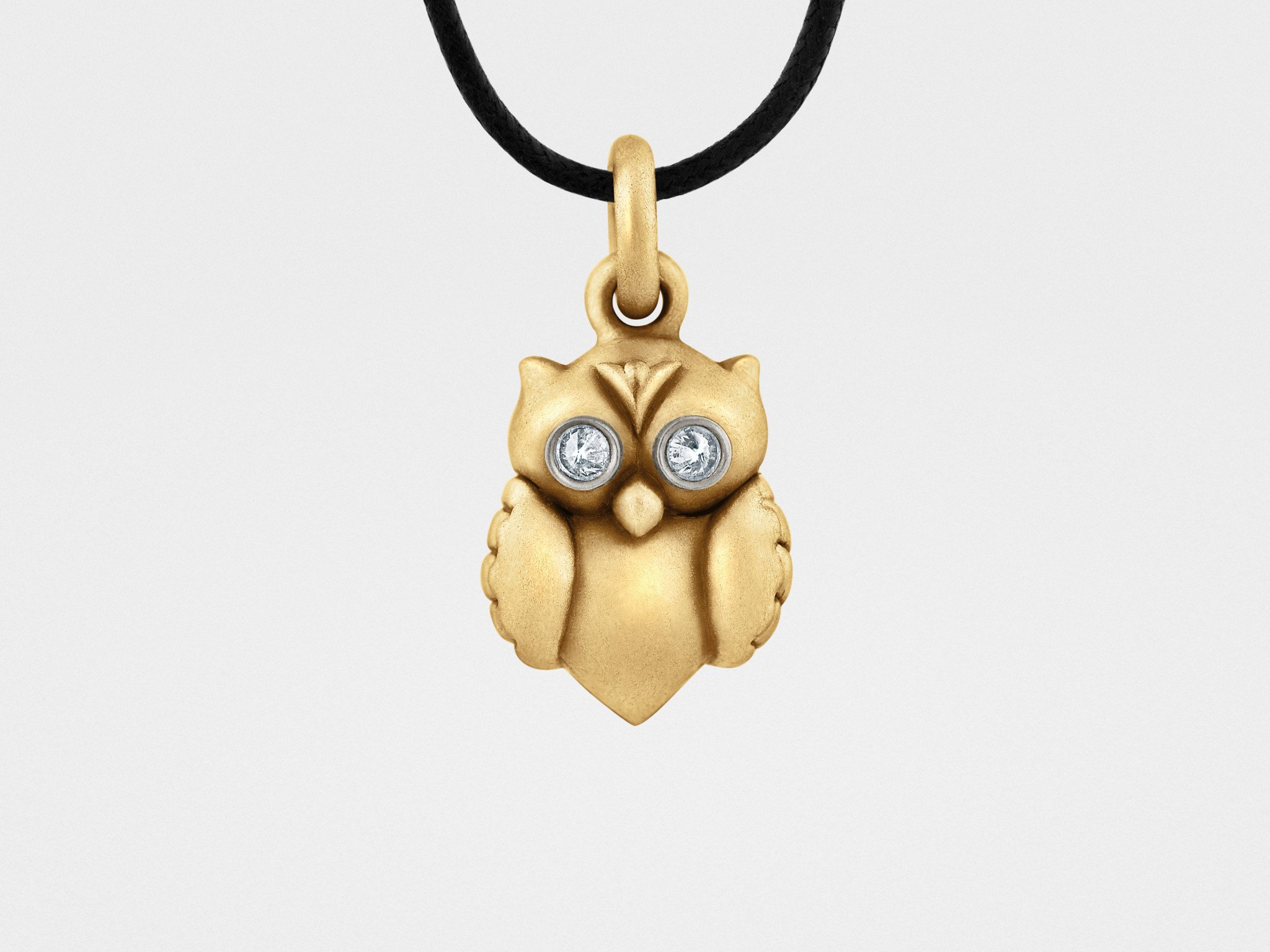 Owl Pendant in Gold Diamonds in Products Pinterest Owl