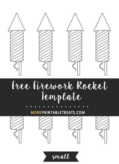 free firework rocket template small size shapes and templates