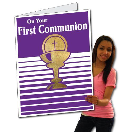 2'x3' First Communion Card W/Envelope (Purple Design) - Huge Greeting Card VictoryStore http://www.amazon.com/dp/B00CXXHN8E/ref=cm_sw_r_pi_dp_Tfw.wb1AG9NSK