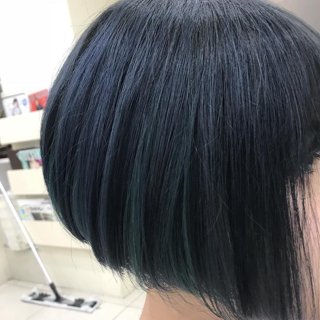 青系のブルーアッシュヘアカラー17選 ブリーチなしのブルー系の髪色も