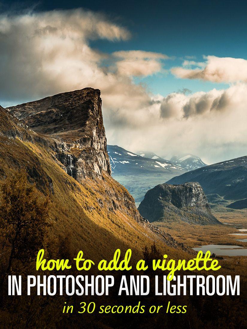 Vignetting in lightroom