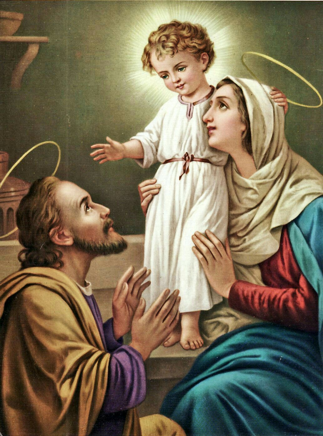Image result for holy family pictures of st joseph with jesus and mary