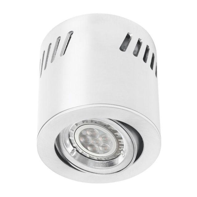 LED Aufbaustrahler aufputz schwenkbar Aluminium weiß GU10-230V #WF4