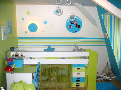 vert et bleu | Chambre Isaac | Pinterest