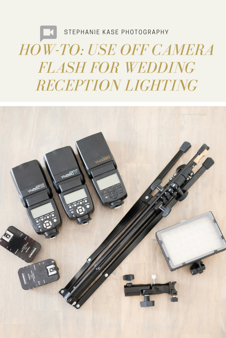 How To Use Off Camera Flash For Wedding Receptions Using Off Camera