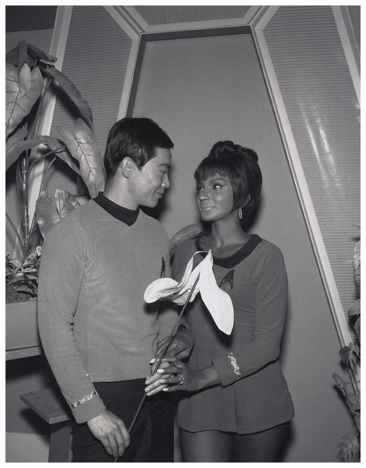 Vintage Photo of George Takei and Nichelle Nichols for Star Trek Promo