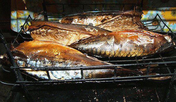 Копчение рыбы в духовке
