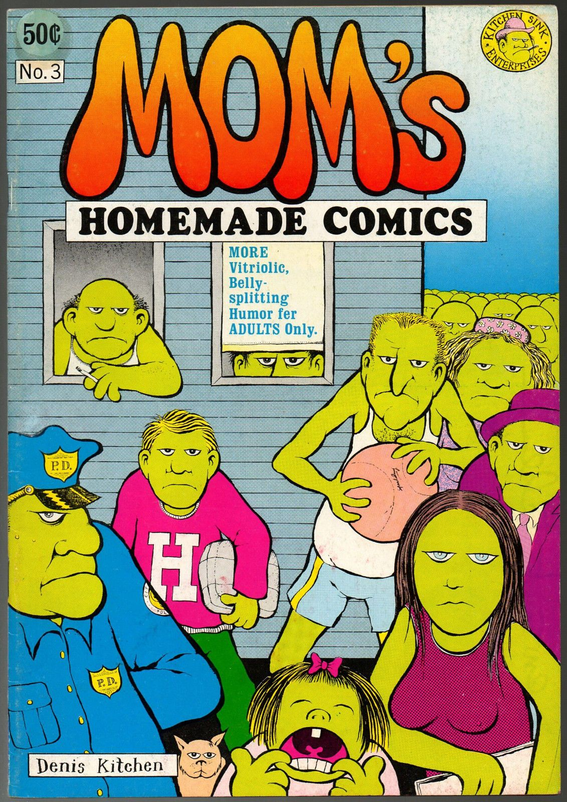 Mom\'s Homemade 3, Kitchen Sink 1971, SIGNED by Denis Kitchen   Comic ...