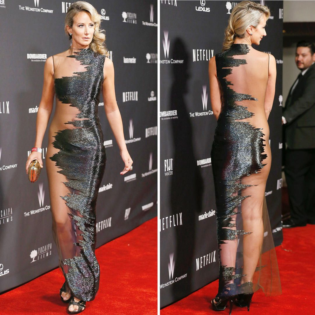 The Most Revealing Red Carpet Looks Ever Lady Victoria Hervey At The Weinstein Company And Netflix Golden G Bad Dresses Red Carpet Dresses Really Cute Outfits