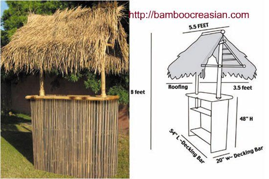 tiki bars and huts bamboo bamboo creasian custom built. Black Bedroom Furniture Sets. Home Design Ideas