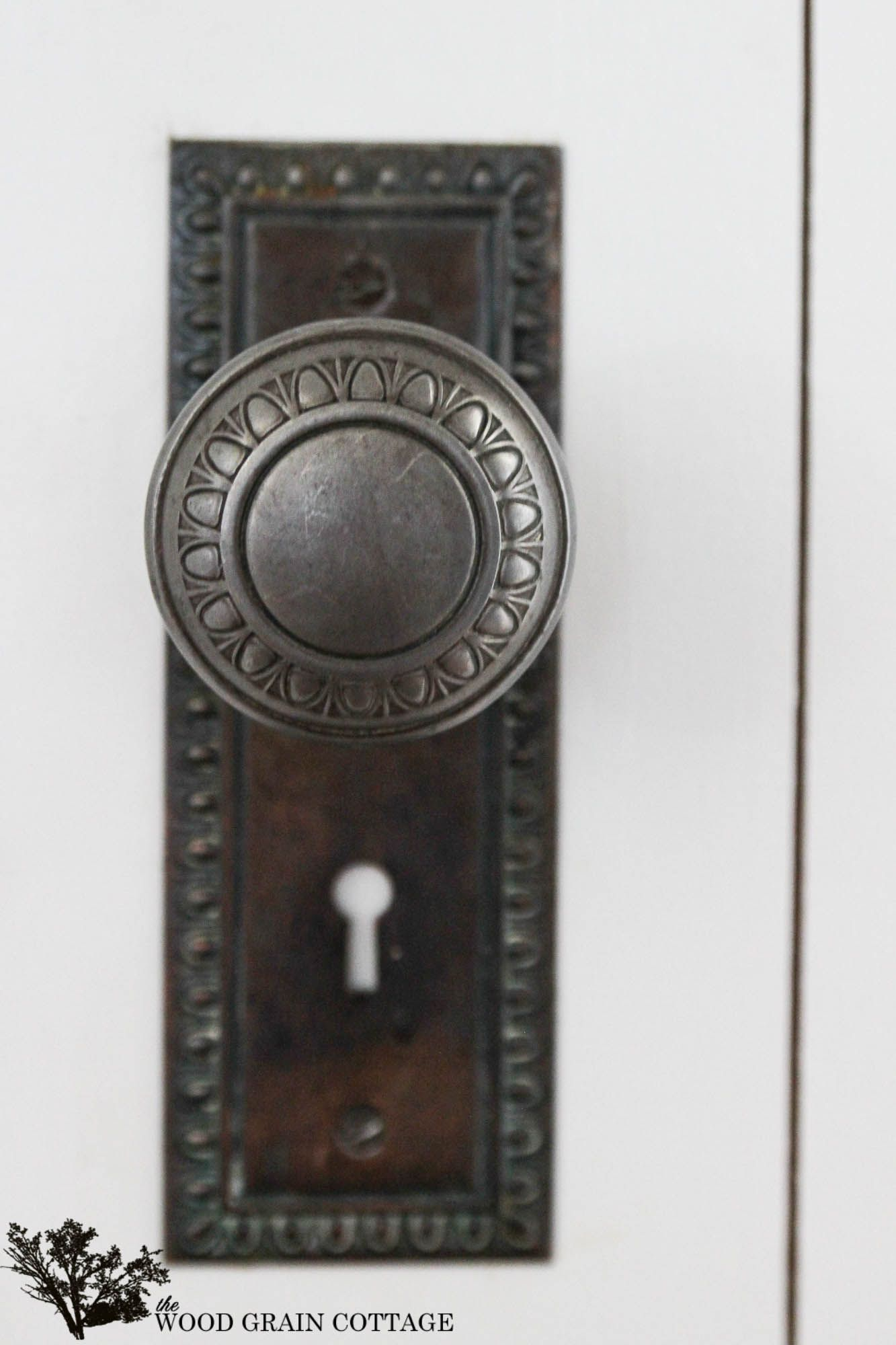 How to install a vintage door knob on a new door by The Wood Grain Cottage - Adding Character With A Vintage Door Knob Hardware Pinterest