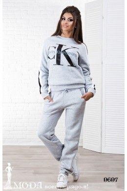 Утепленный женский костюм Calvin Klein 9697. Теплые женские костюмы оптом 87422cc56c4
