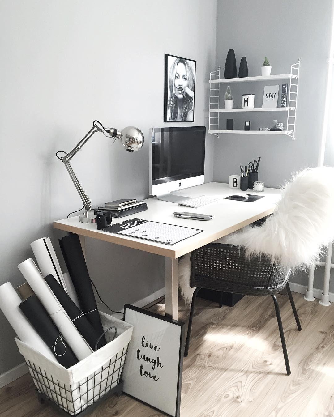 Schwarz-Weiß Im Arbeitszimmer