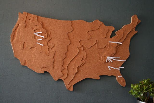 Crafty Sisters: A Cork Map