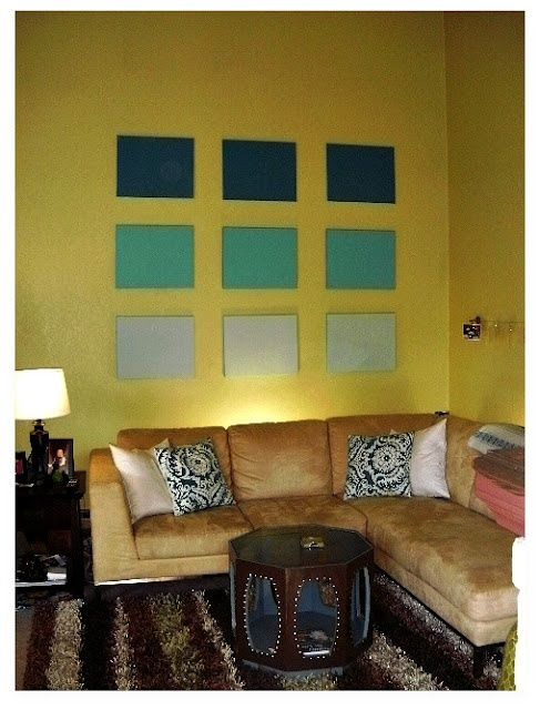 Ombre Canvas Paintings | DIY: Inspired by Ombre Canvas Wall Art ...