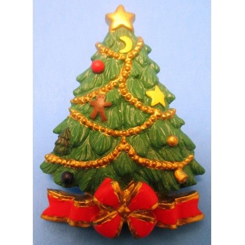 Vintage American Greeting Cards AGC NWOT Holiday Christmas Tree Lapel Pin