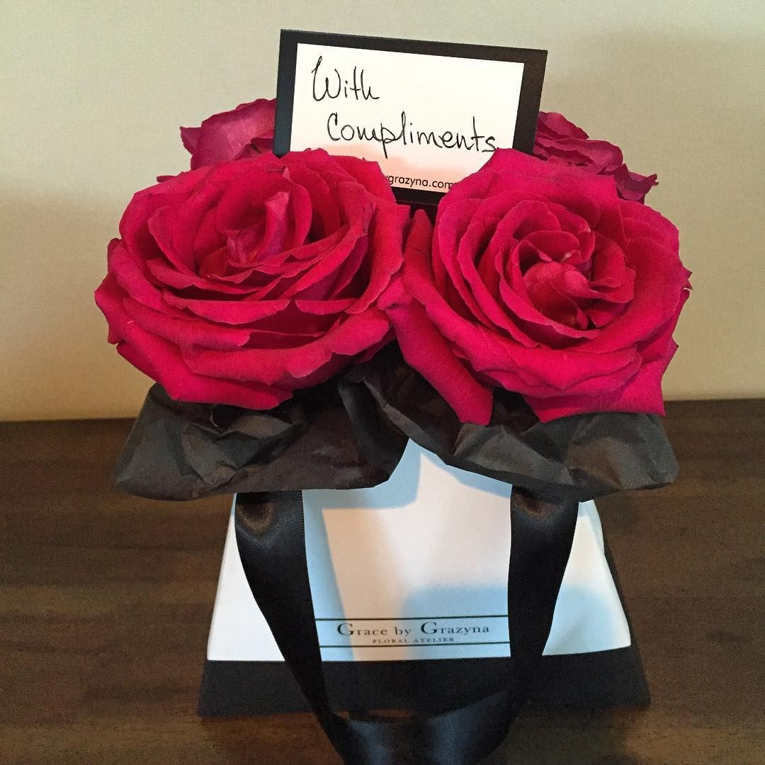 Our Little Bag Of Flowers Full Of Stunning Pink Columbian Roses