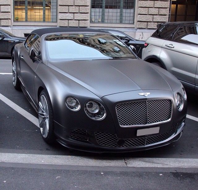 Cars Luxury Cars Bentley: Bentley Continental GT Matte Black
