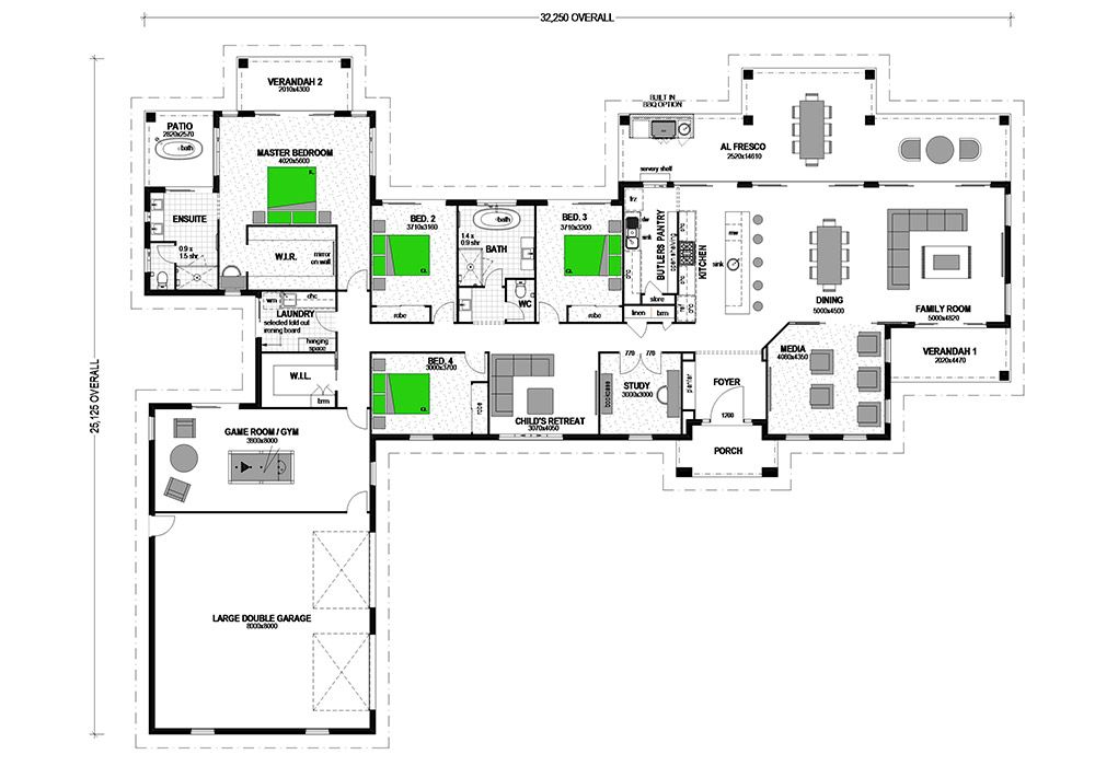 Montego 450 Acreage Home Design House House plans design and
