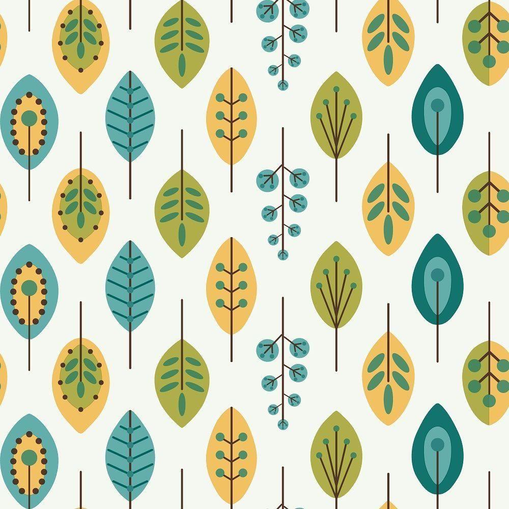 York Wallcoverings Bistro 750 Retro Leaves Wallpaper Kb8528 The Home Depot Leaf Wallpaper Blue Paper Texture Transitional Wallpaper