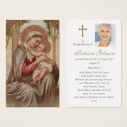 Funeral Prayer Card Mother Most Admirable   Template Gifts   Funeral Poster  Templates  Funeral Poster Templates