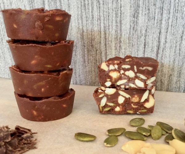 Photo of No bake chocolate seed and nut bites 130 calories