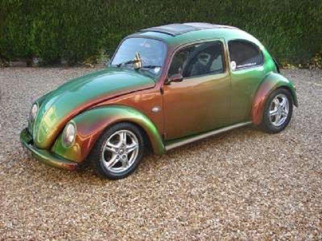 vw beetle   chameleon paint job iridescent sparkly cars vw beetles volkswagen beetle