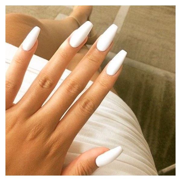 48 Pretty Matte White Nail Designs ❤ liked on Polyvore featuring ...