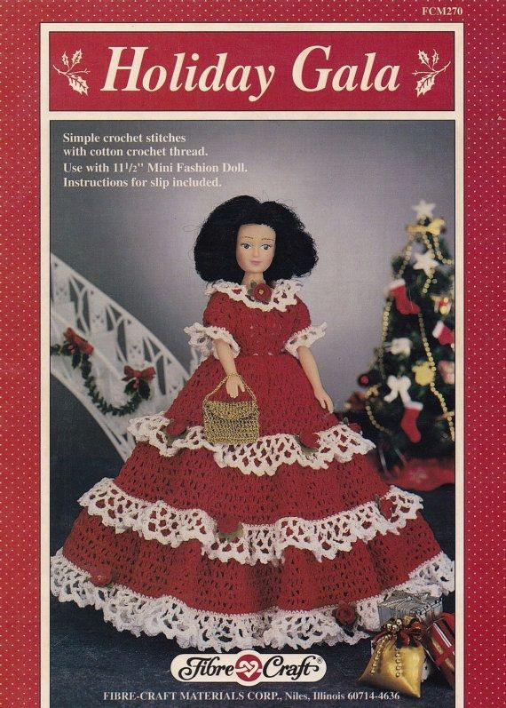 Holiday Gala, Fibre Craft Crochet Pattern Booklet FCM270 Fashion ...
