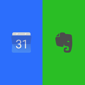 Recommended Recipe on IFTTT: Create Evernote journal based on Google Calendar events