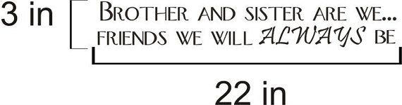 Brother And Sister Are We Vinyl Decal