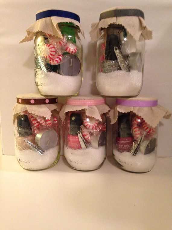 Mason jar gift MistleToes pedicure in a jar by ReluctantHousewife