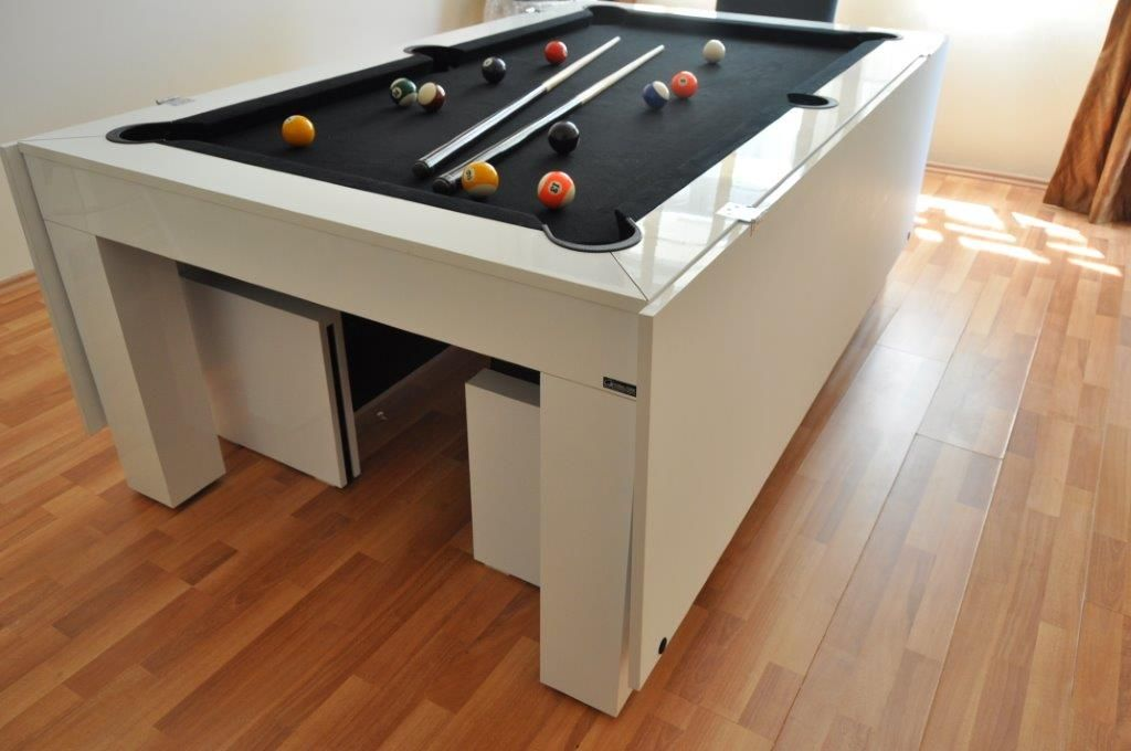 turn your dining room table into ping pong top pool tables luxury amp leisure throughout decorating sets