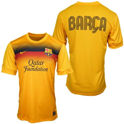 innovative design 877cd 489ac 2013 Barcelona Yellow Training Jersey Shirt wholesale soccer ...