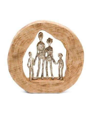 Aluminum Family In Mango Wood Decor - Home - T.J.Maxx