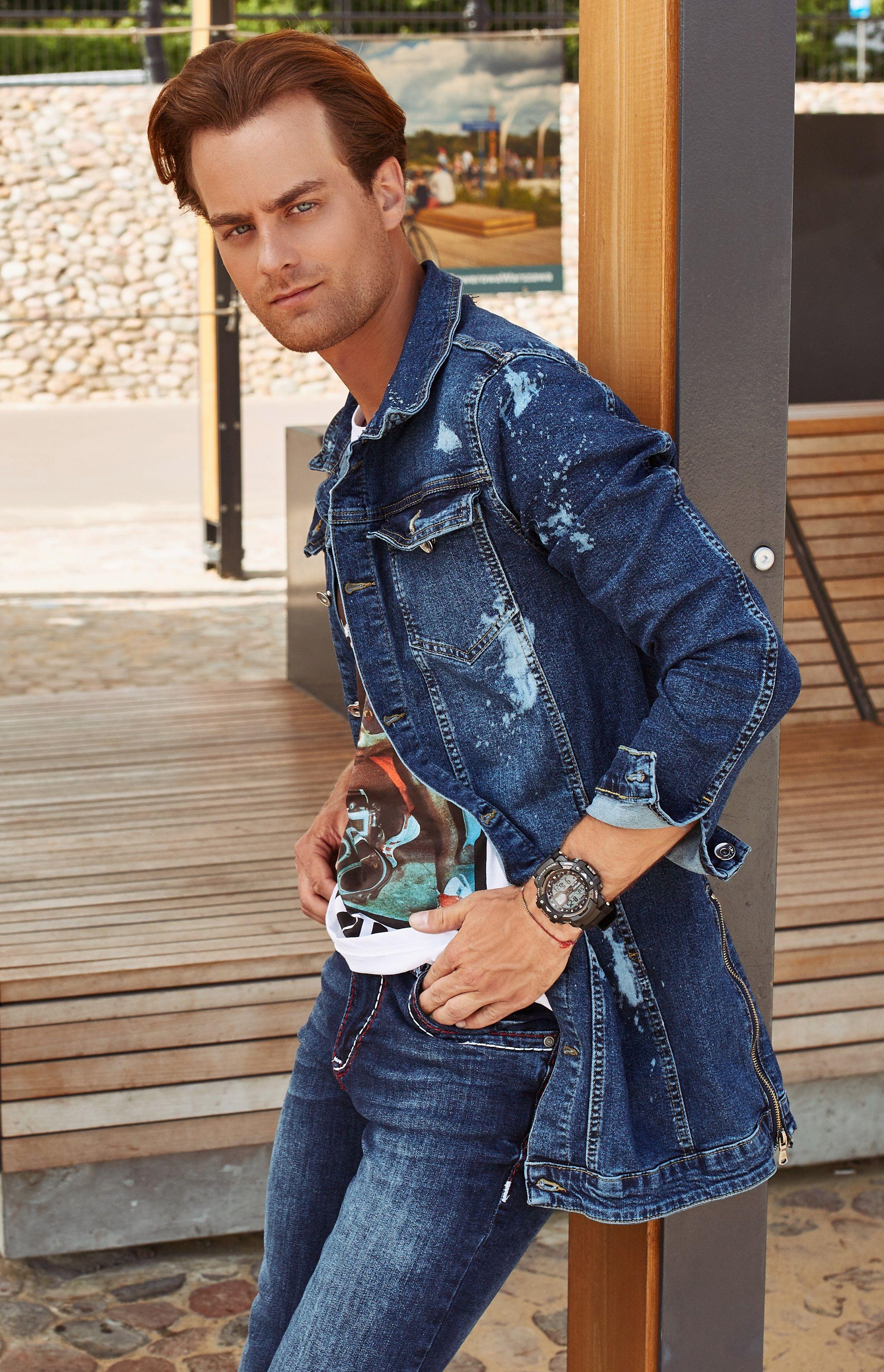 7dc4ddc51a Zawsze na topie  JEANS❗ Zainspiruj się stylizacją ze zdjęcia  T-shirt męski  ➡ model 1396 Jeansy ➡ model 702 Kurtka jeansowa ➡ model 2020