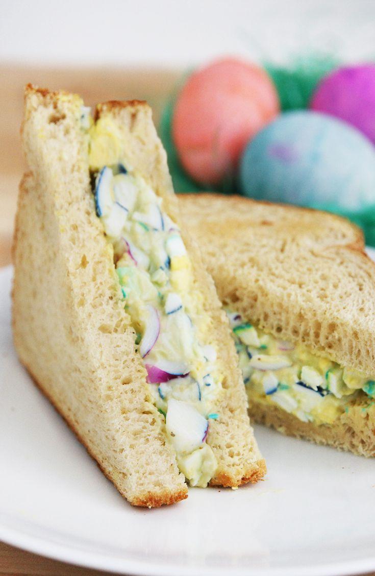 Rainbow Egg Salad Sandwich
