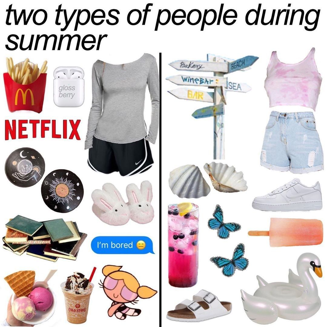 Pin By Angelica On Starter Pack Types Of People Summer Cute Outfits [ 1080 x 1080 Pixel ]