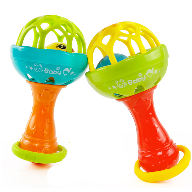 Soft Baby Toy Bell Rattles Ball Toy Development Infant Toy Plastic Hand Bell