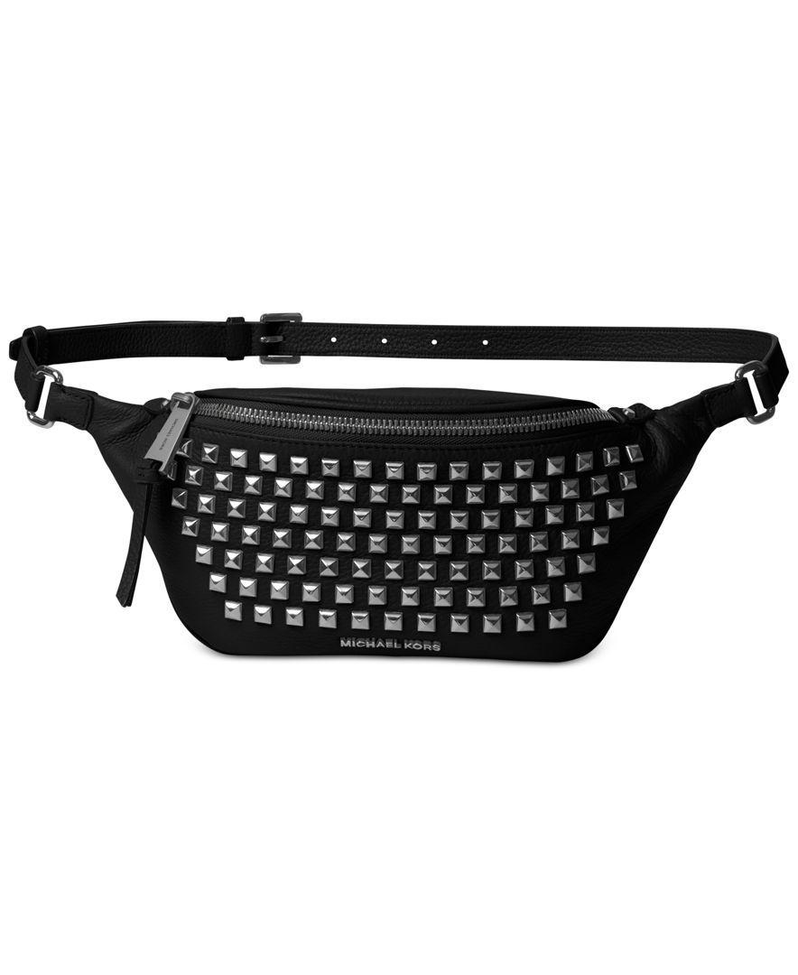 775cb617a0bd Michael Michael Kors Rhea Zip Pyramid Stud Belt Bag