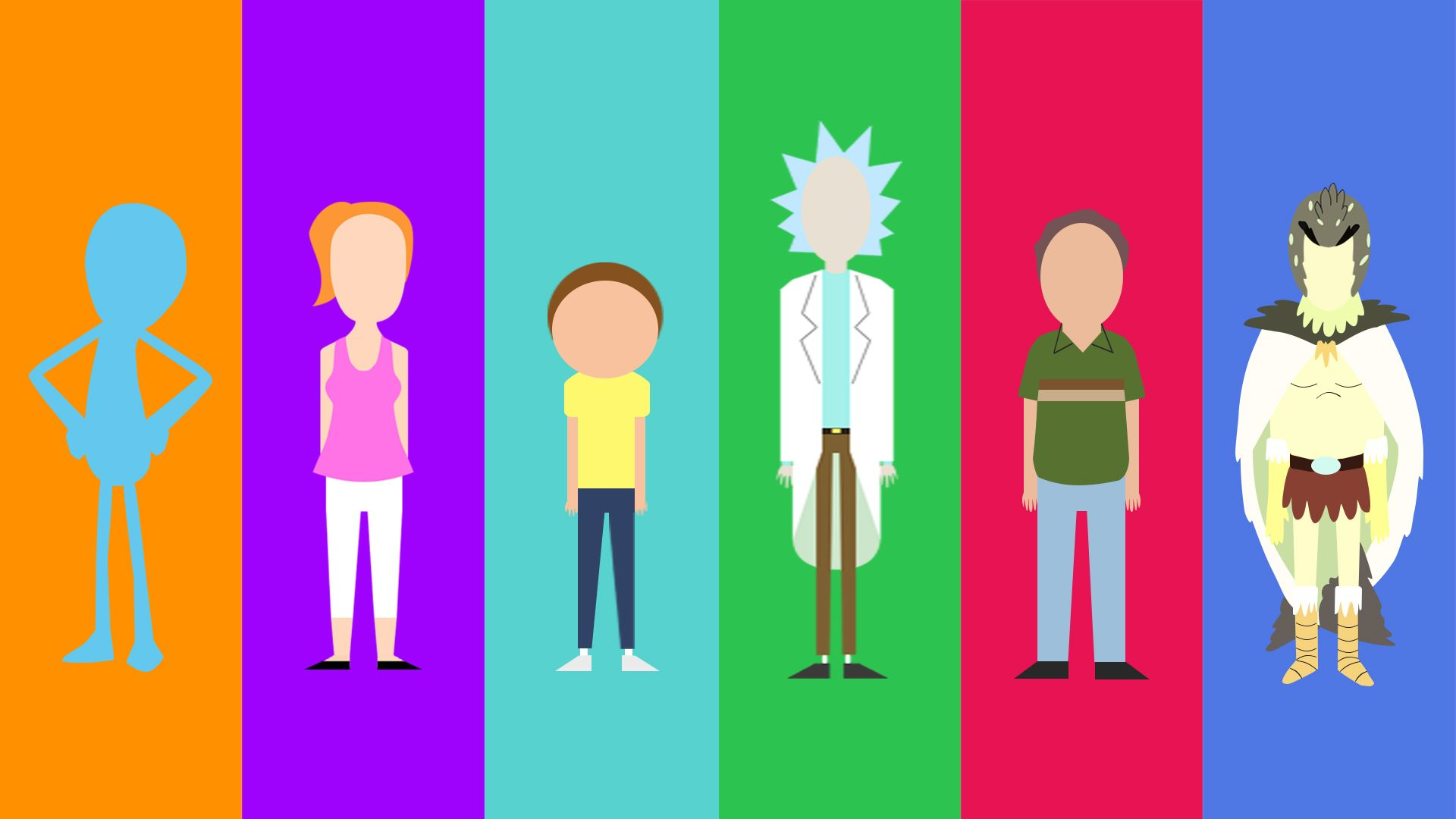 My Minimalist Rick And Morty Character Collection Album On Imgur Rick And Morty Characters Rick And Morty Drawing Rick And Morty Stickers