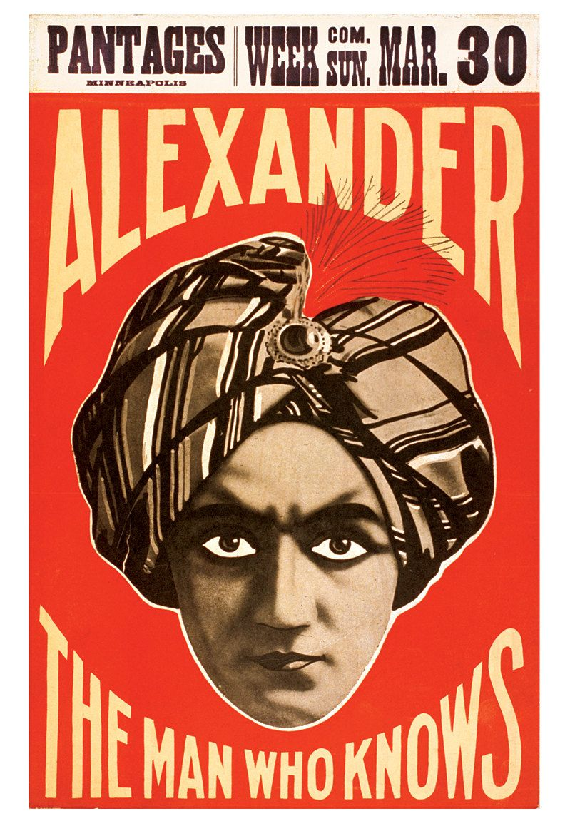 The Man Who Knows - Vaudeville magician Alexander - 13x19 print ...
