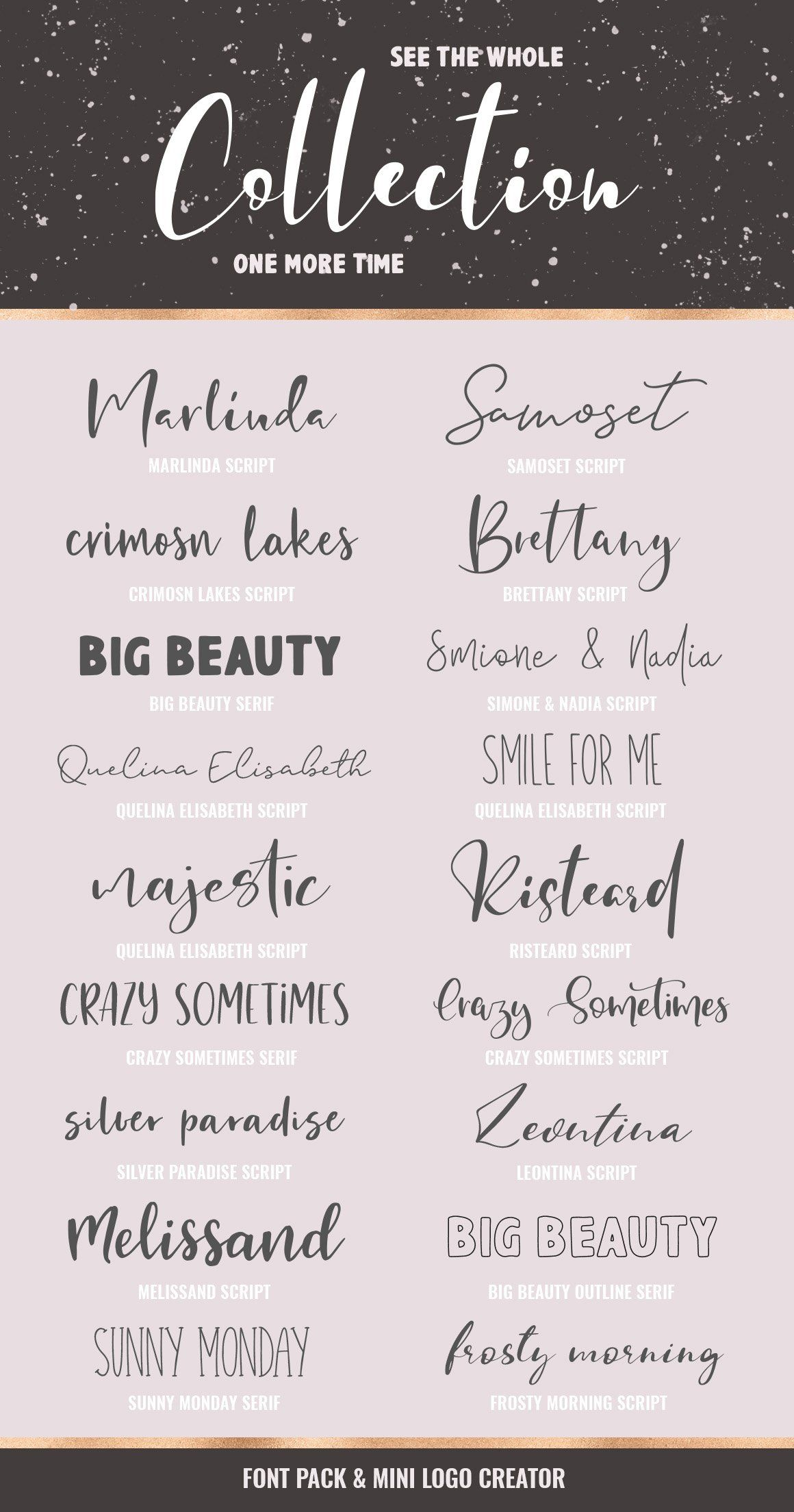 Download Font Pack & Mini Logo Creator | Aesthetic fonts, Lettering ...