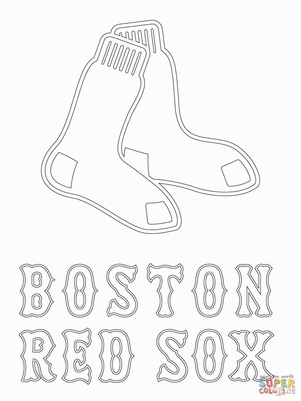 red sox coloring pages # 3