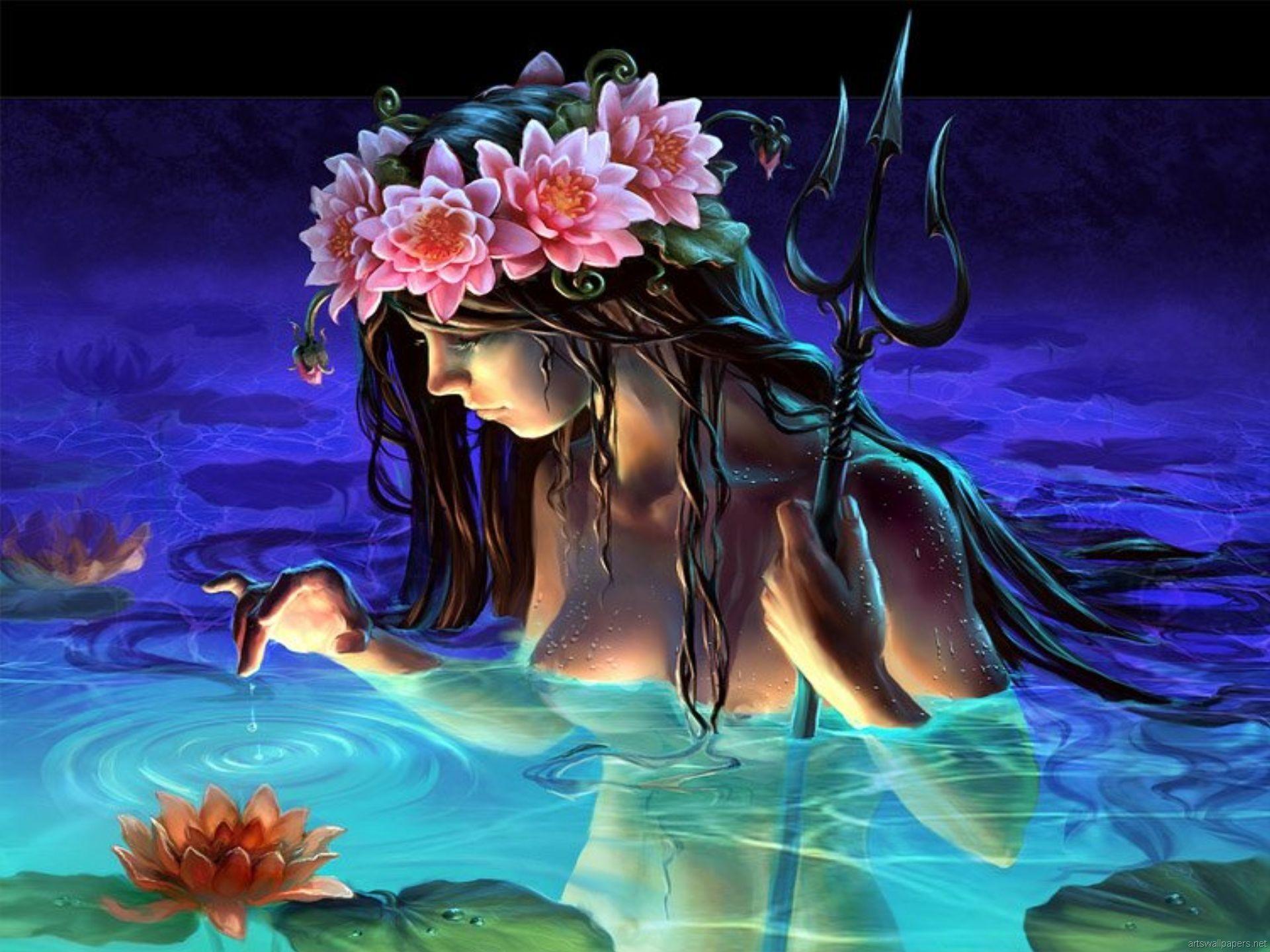 Fantasy Jellyfish Head Mermaid