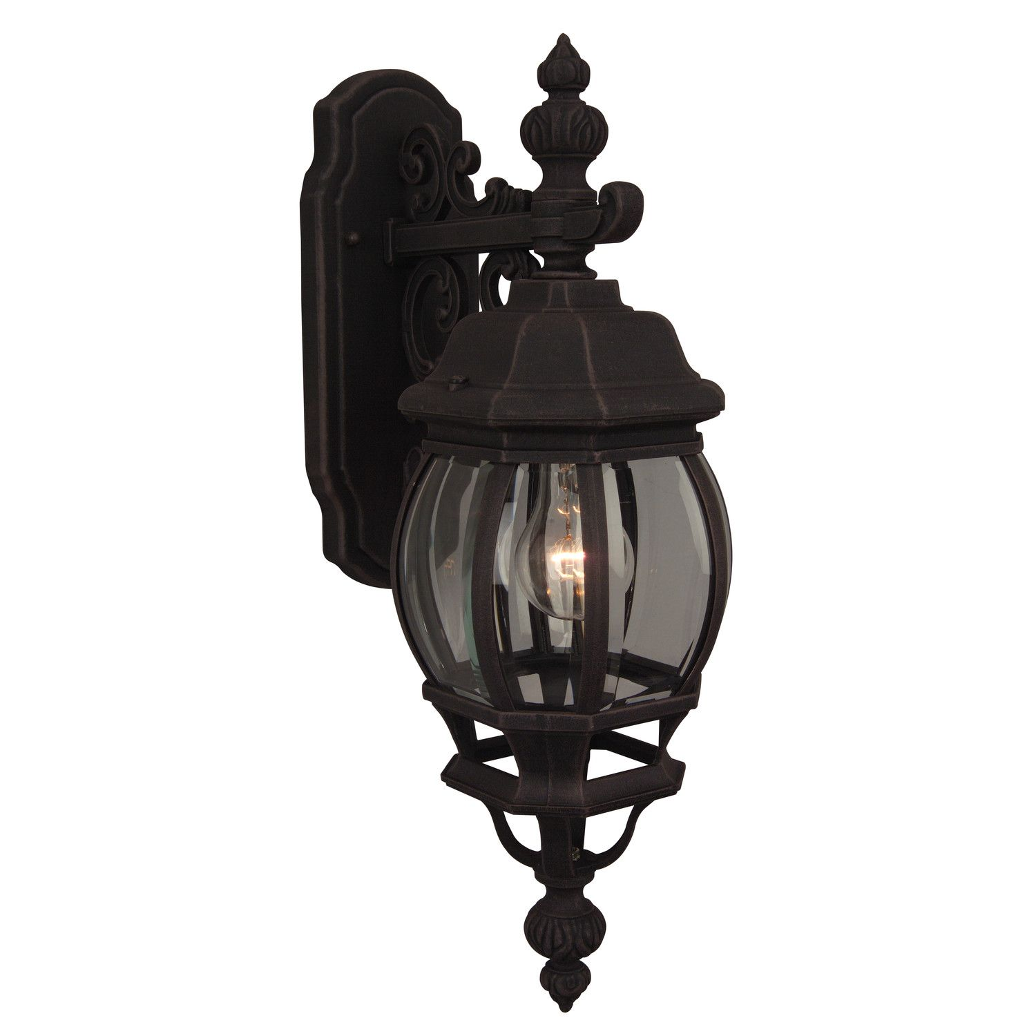 Check Out The Craftmade French Style 1 Light Down Lighting Small Outdoor Wall Sconce In Rust