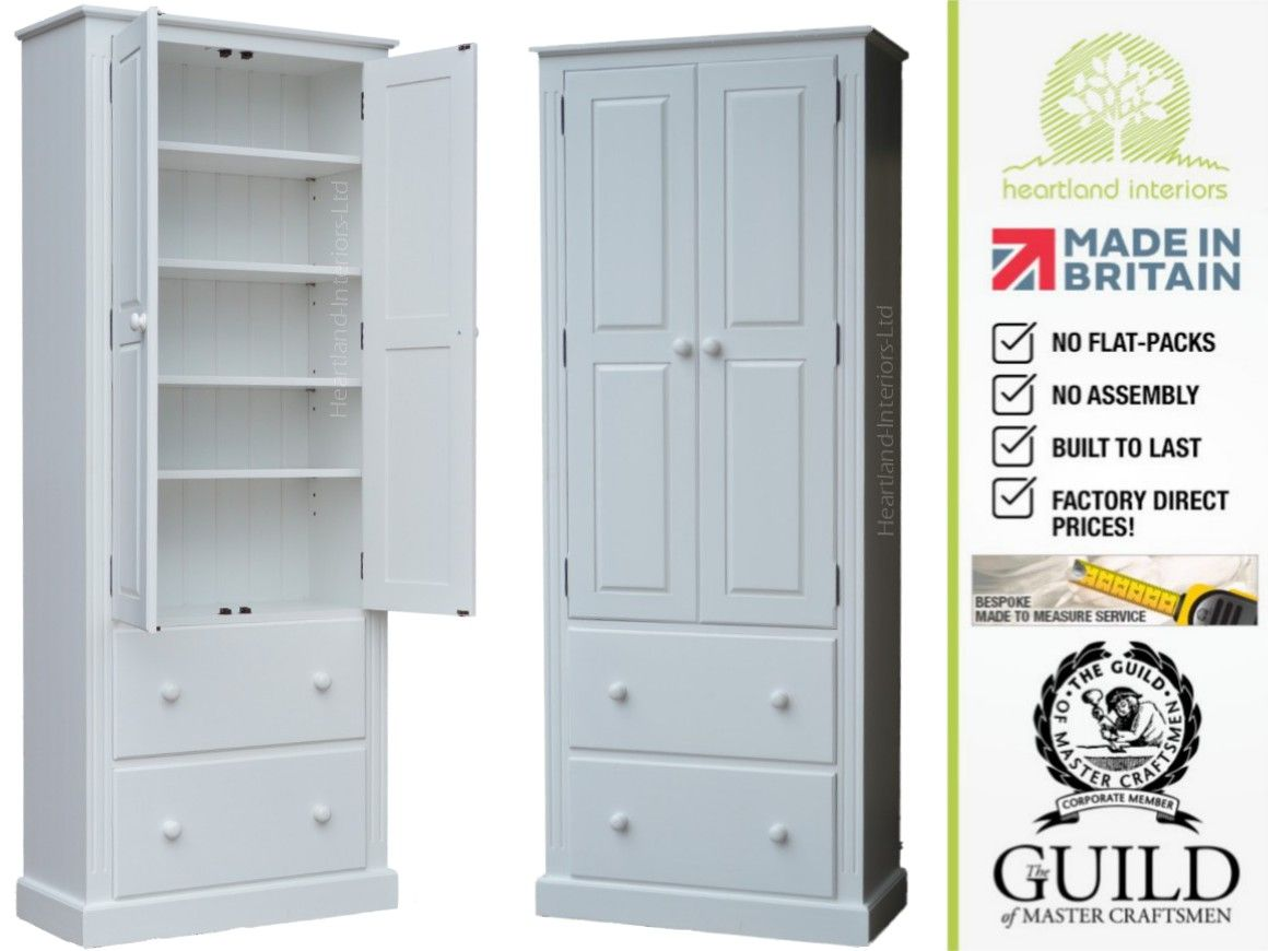 Traditional Painted, 2M Tall Multi-Purpose Storage Cabinet with ...