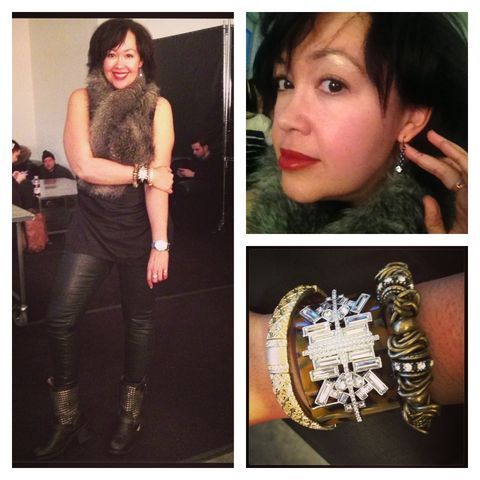 Blogger Kristin Booker Pulled Off This Rocker Glam Look At Fashion Week